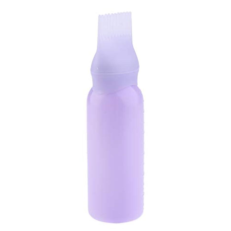 年金受給者クルーズ鑑定ヘアダイボトル ヘアカラー ヘア染色 ディスペンサー アプリケーター 3色選べ - 紫