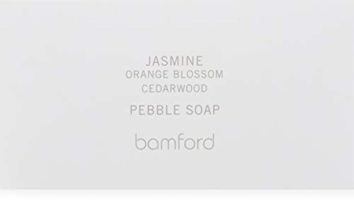 悲しみ死の顎修士号bamford(バンフォード) ジャスミンペブルソープ 石鹸 250g