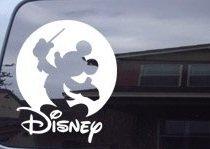 ディズニー ミッキーマウス  車の窓 指揮者 ビニールデカールステッカー カーステッカー(並行輸入品)