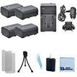 4NP - fv50交換用電池+車/ホーム充電器for Sony hdr-cx410、hdr-cx430、hdr-cx510、hdr-cx550、hdr-cx550e、hdr-cx550V、hdr-cx560、hdr-cx560V、hdr-cx580、hdr-cx580V & More。。ビデオカメラ+ Complete Starterキット