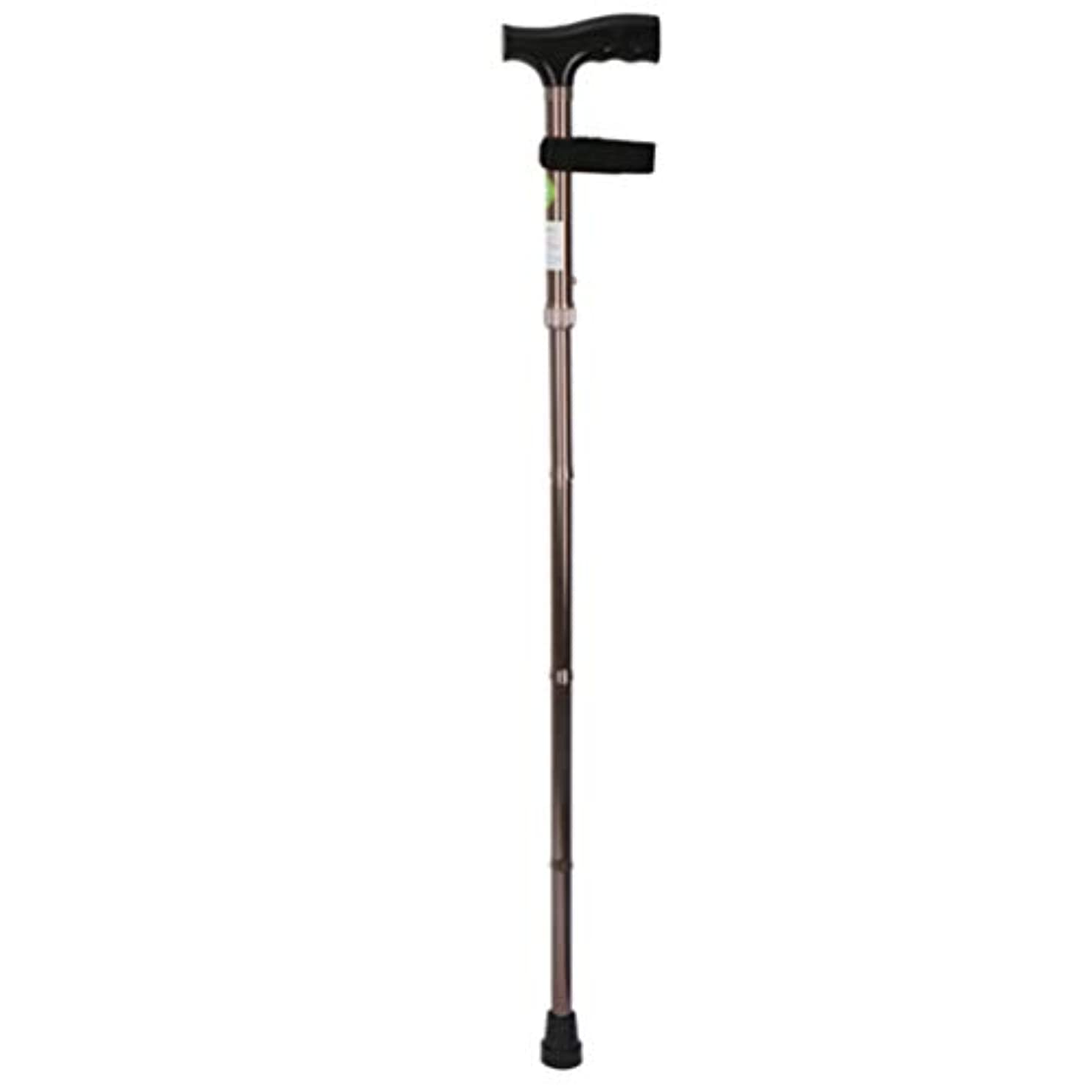 タイマー建築家黒人年配の杖折りたたみ式、滑り止めのフィートのマットが付いている高さ調節可能な杖、滑り止めの杖アルミ合金材料、高齢者および身体障害者用,Green