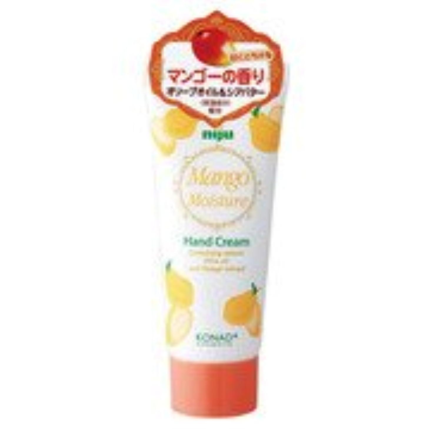 干し草疑わしい実験をするniju(ニジュウ) モイスチャーハンドクリーム マンゴーの香り 60ml