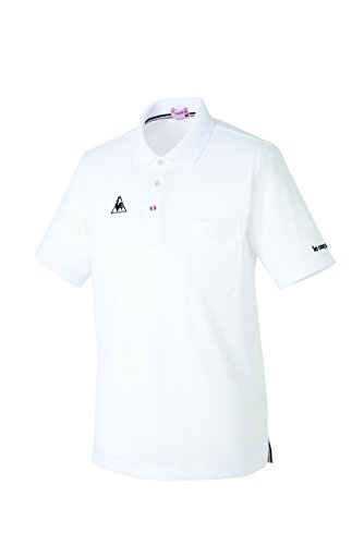 介護ユニフォーム 長袖ポロシャツ 男女兼用 ルコック ホワイト サイズ:S UZL8022-1