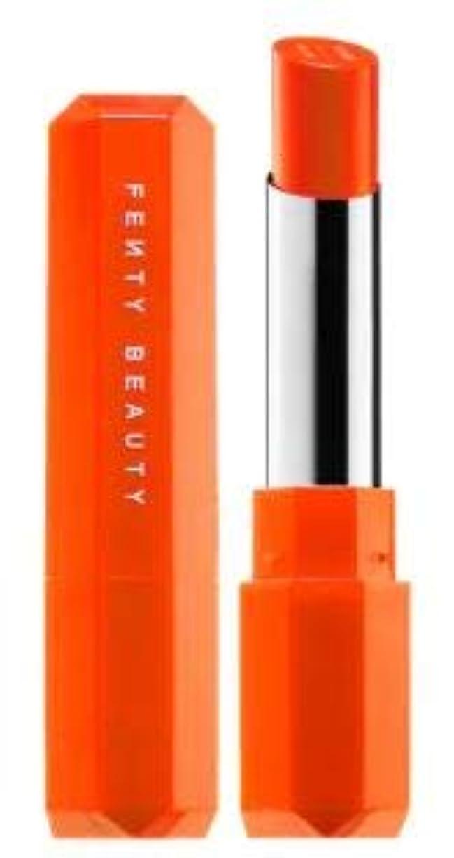 裁定窓を洗う熟練したFENTY BEAUTY Poutsicle Juicy Satin Lipstick Sun Snatched - blazing orange