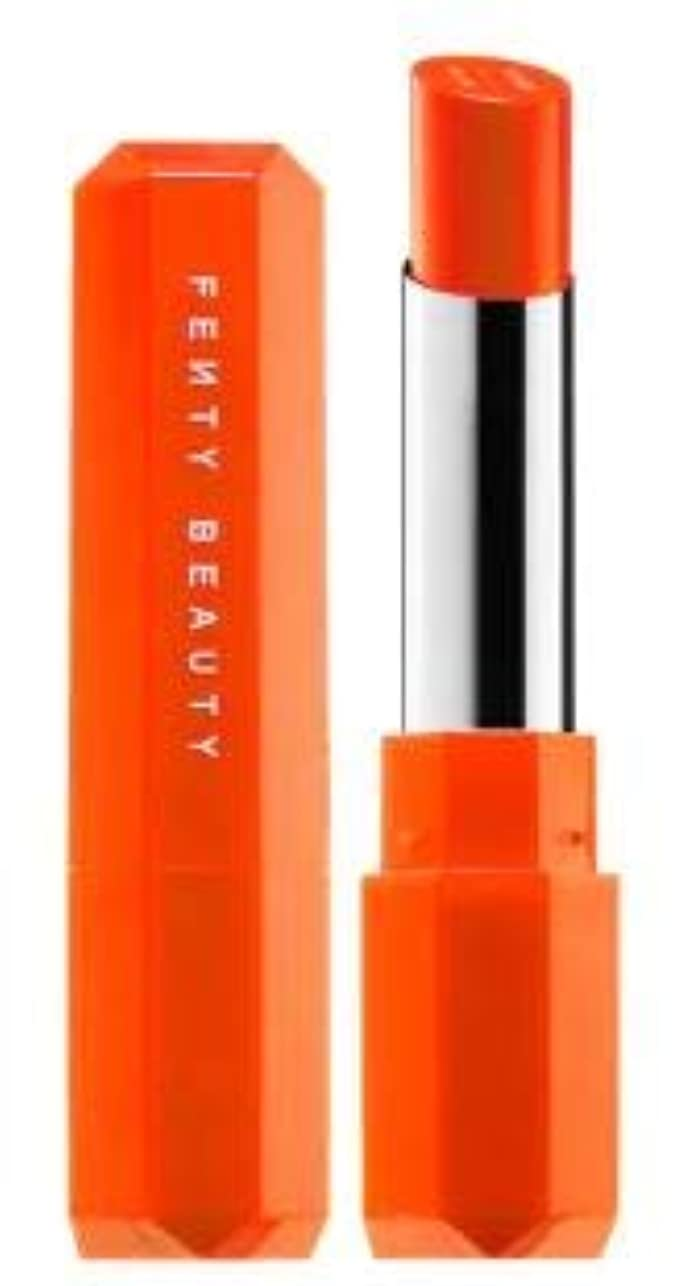 無傷責任者無礼にFENTY BEAUTY Poutsicle Juicy Satin Lipstick Sun Snatched - blazing orange