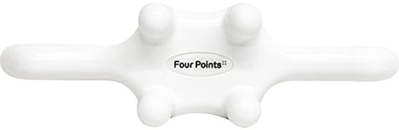 に変わるアラブサラボ最適フォーポインツ Four Points ホワイト(全5色) 筋膜リリース 肩こり解消グッズ 腰痛改善グッズ 頭 首 背中 脚 ふくらはぎ 足裏 ツボ押し マッサージ グッズ