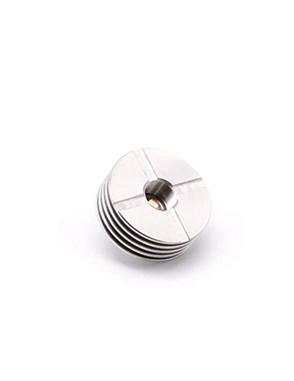 アクションボーカル前投薬510ナットCNC加工ステンレス放熱片22mm,電子タバコ本体に熱の保護ナット、4色 (シルバー)