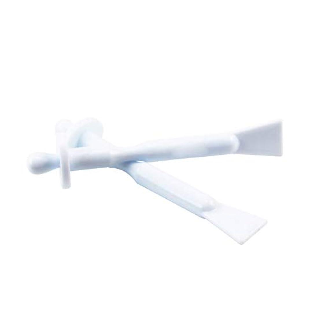 勉強する評価可能条約鼻ワックススティック2in1の除去ワックスツールノーズ部4の清掃へらポータブルバー鼻鼻孔耳の毛をワックスアプリケータースティック