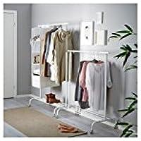IKEA(イケア) RIGGA 30231631 洋服ラック, ホワイト 2個セット