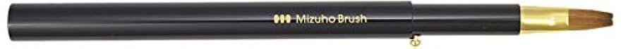 悪意のある中央矛盾熊野筆 Mizuho Brush スライド式リップブラシ平 黒