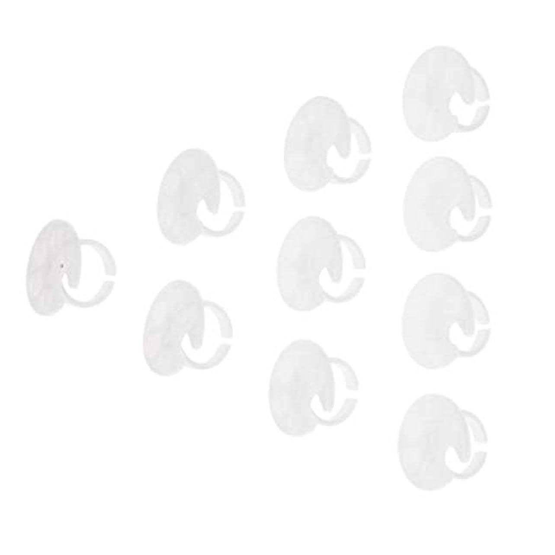 詳細なセント消化器ネイルアートツール パレット ネイルアートプレート ハンドリング ネイルパレット トレイ 約10個 - 白