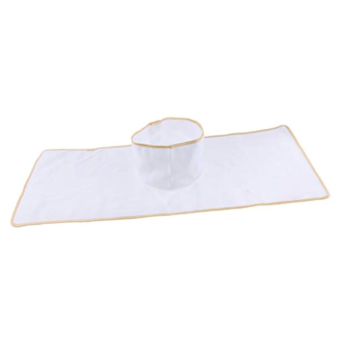 被る偶然ログサロン マッサージベッドシート 穴付き 衛生パッド 再使用可能 約90×35cm 全3色 - 白