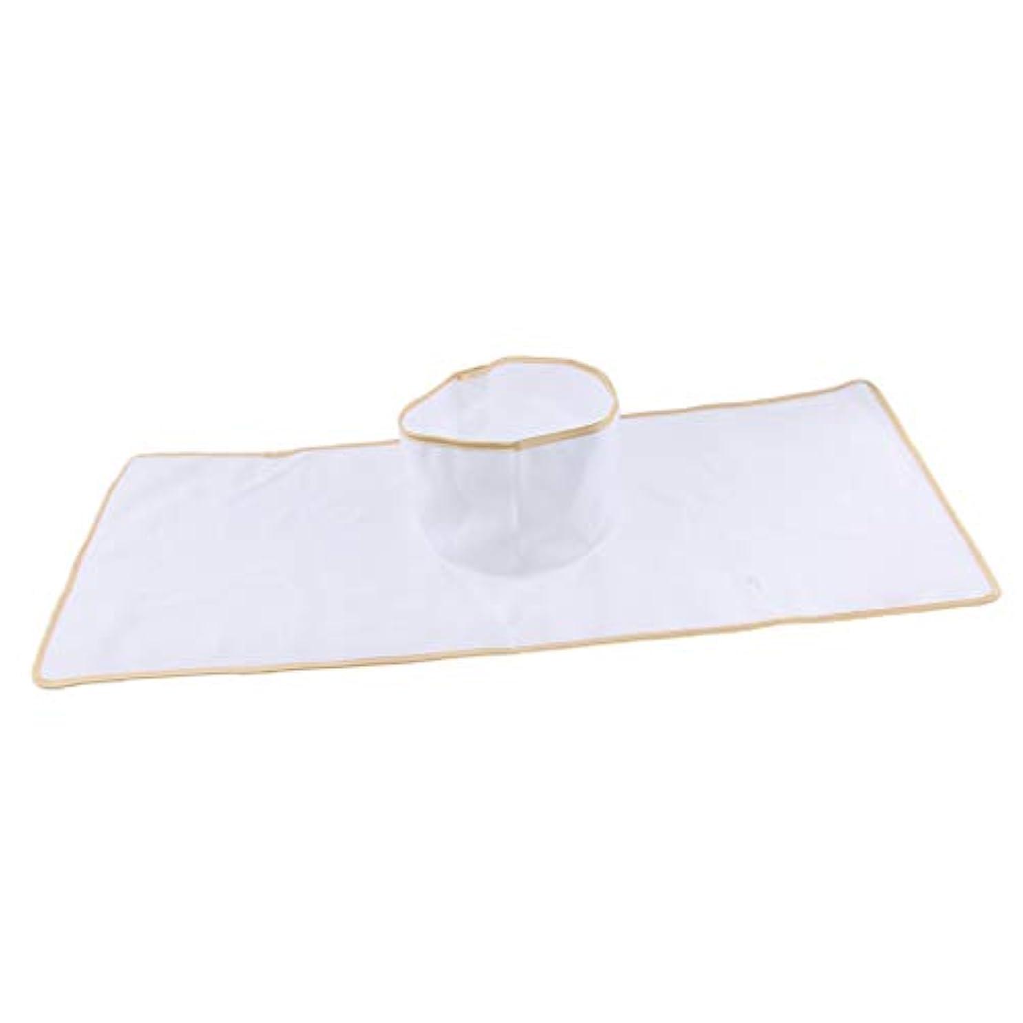 夢中ギャロップ黙認するサロン マッサージベッドシート 穴付き 衛生パッド 再使用可能 約90×35cm 全3色 - 白