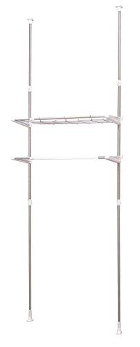 RoomClip商品情報 - アイリスオーヤマ ランドリーラック 突っ張り ステンレス 幅65.7~99.2cm×奥行31×高さ200~270㎝ LRT-27S
