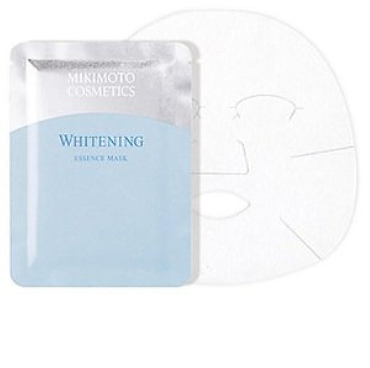 緊急思慮深い提供ミキモト ホワイトニング エッセンス マスク 21mlx6枚入 薬用美白状シートマスク
