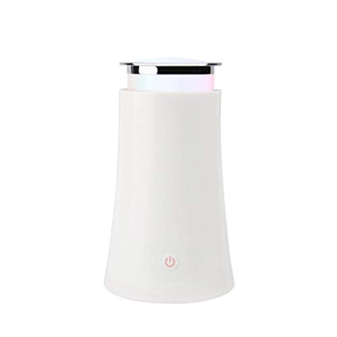 明るくするアシスト持続的サイレントカラースプレー機超音波加湿器プラグイン加湿器香機世帯 (Color : White)