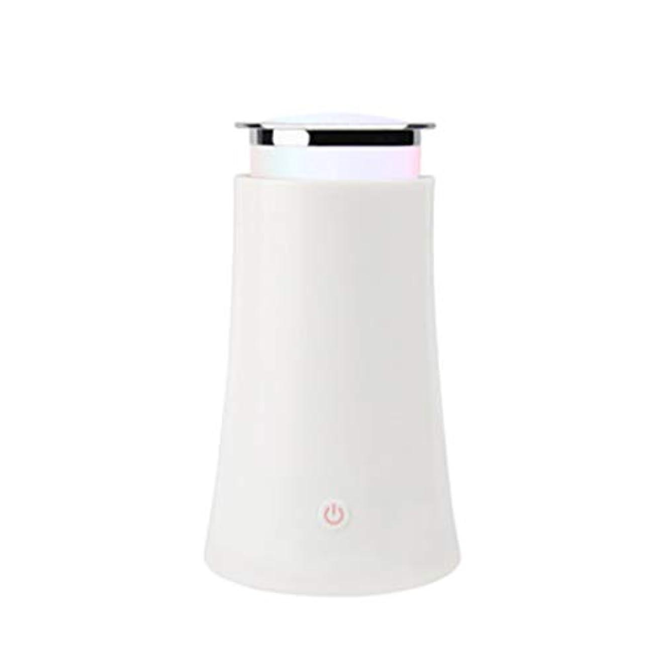 しなやかな曲がった狂人サイレントカラースプレー機超音波加湿器プラグイン加湿器香機世帯 (Color : White)