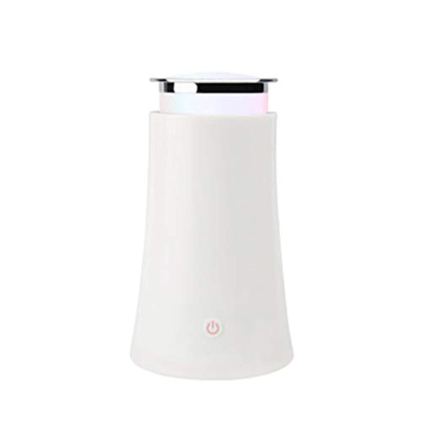 微視的男車サイレントカラースプレー機超音波加湿器プラグイン加湿器香機世帯 (Color : White)