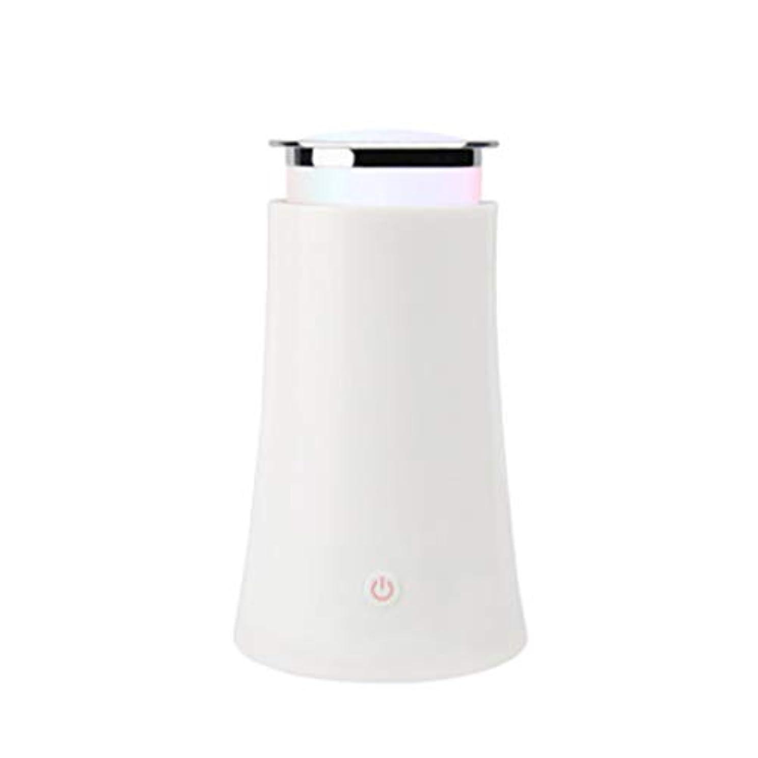 液化するネックレットタップサイレントカラースプレー機超音波加湿器プラグイン加湿器香機世帯 (Color : White)