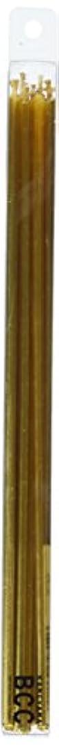 ギャング押すイタリアの18cmスリムキャンドル 「 ゴールド 」 10本入り 10箱セット 72361833GO