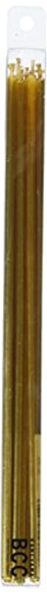 円周スピンファイター18cmスリムキャンドル 「 ゴールド 」 10本入り 10箱セット 72361833GO