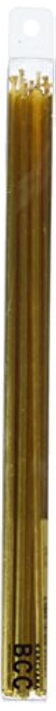 心理的にキャップ勤勉18cmスリムキャンドル 「 ゴールド 」 10本入り 10箱セット 72361833GO