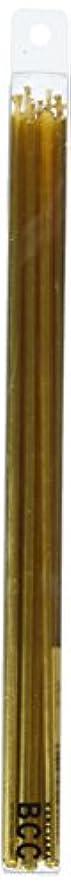 粘性の軽量漫画18cmスリムキャンドル 「 ゴールド 」 10本入り 10箱セット 72361833GO