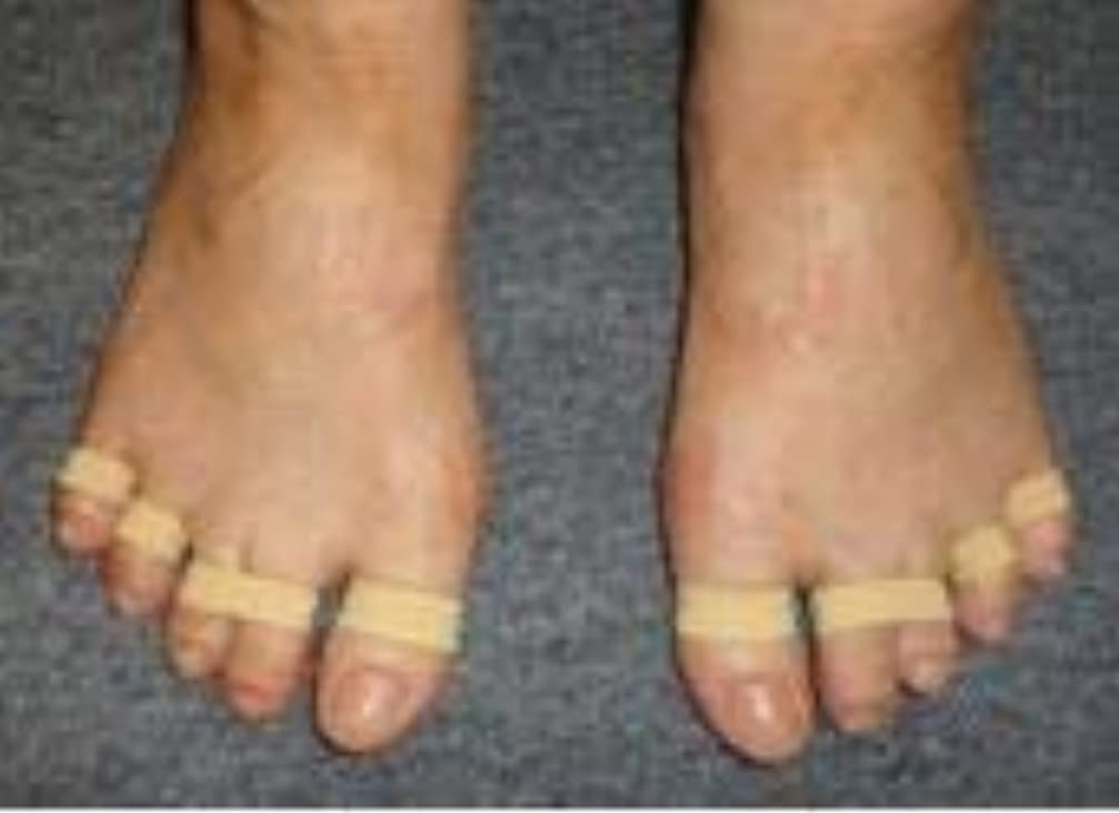 に対処する生きているミント足ゆびバランスパッド(第4趾用)65