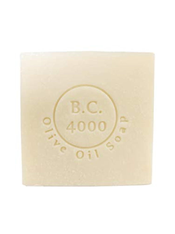 学期不定膨らませる100% バージンオリーブオイル石鹸 B.C.4000 オーガニック せっけん 100g 1個
