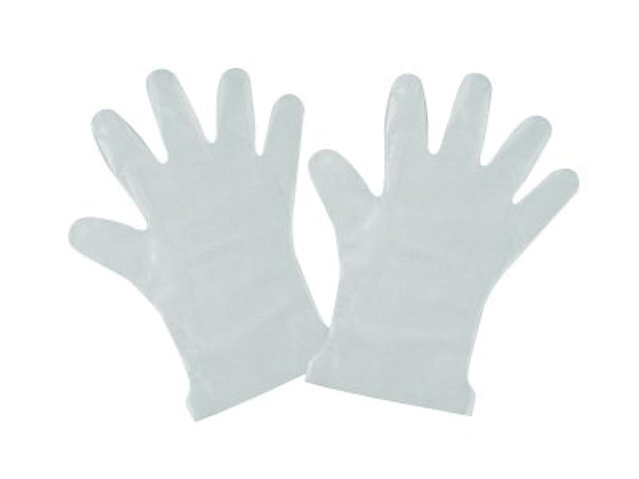 全部白鳥争いポリ手袋内エンボスS (100枚)