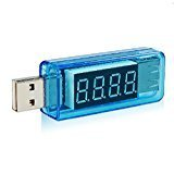 【ノーブランド品】USB 簡易電圧・電流チェッカー ストレート型 (3.4V~8.0V,0A~3A)