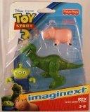 トイストーリーImaginext Disney Pixar Toy Story 3 Rex with Hamm and Alien 輸入品 V0459