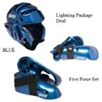 Lightningブルー空手Sparring Gear Package Deal – 大人用XXLサイズ