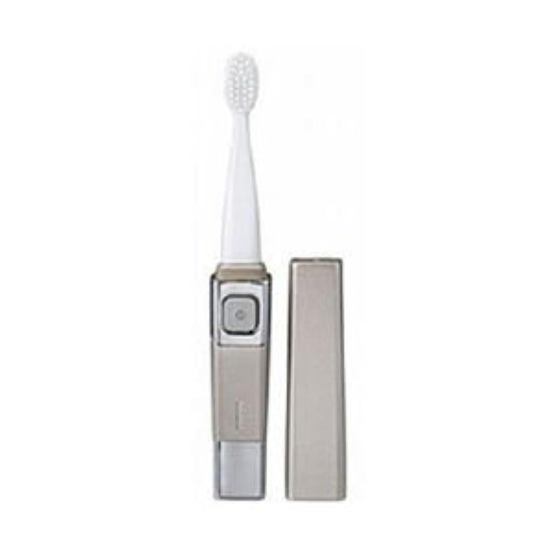 (まとめ)ツインバード 音波振動歯ブラシ シャンパンゴールド BD-2755G【×3セット】