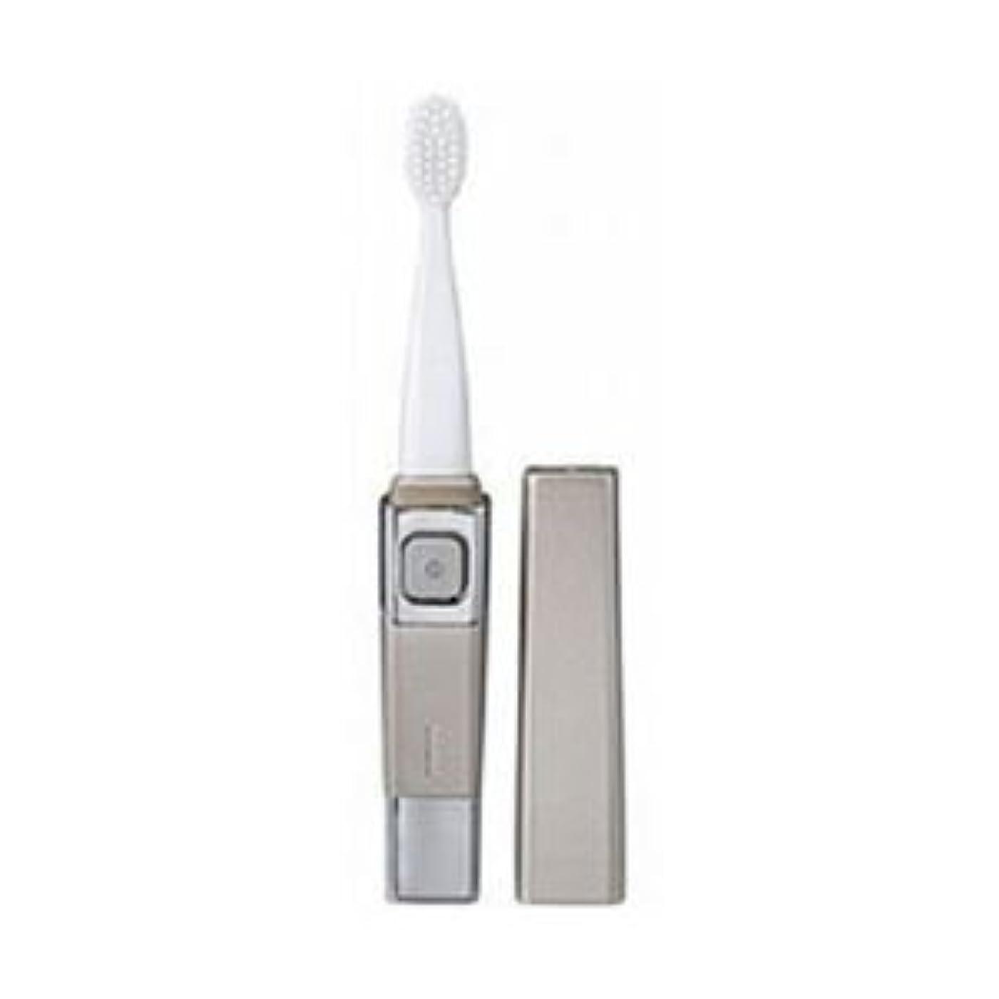 節約ブリードほのか(まとめ)ツインバード 音波振動歯ブラシ シャンパンゴールド BD-2755G【×3セット】
