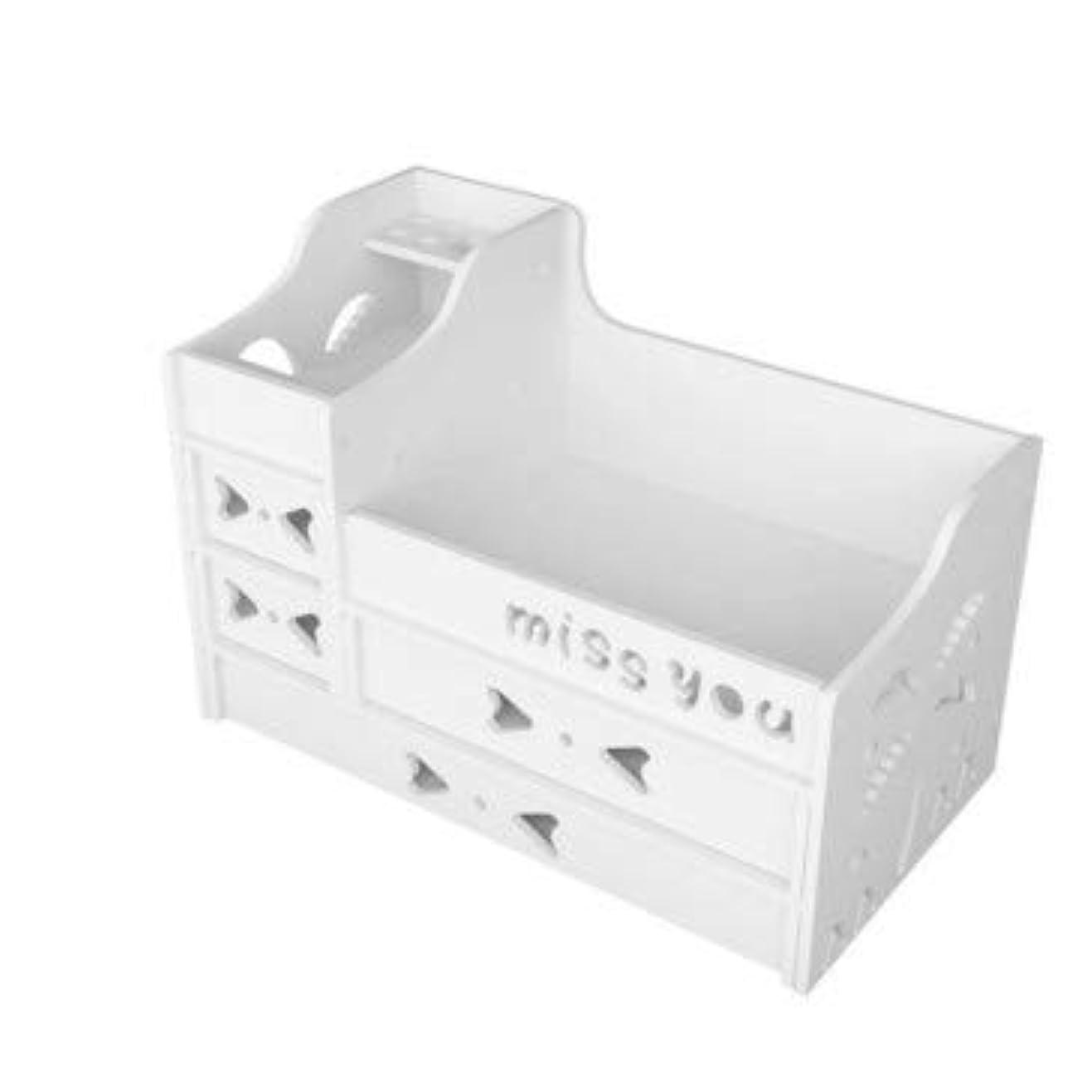価格破産言い直す特大化粧箱デスクトップ化粧品引き出しデスクトップ収納ボックス収納ボックスプラスチック収納ボックスデスクトップ