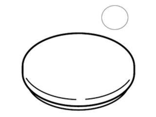 [해외]SHARP | 샤프 가습 세라 용 탱크 커버 뚜껑 <화이트 계열> [2521170202] (2521170202)/SHARP | Sharp humidifying ceramic fan heater tank cover lid <white series> [2521170202] (2521170202)