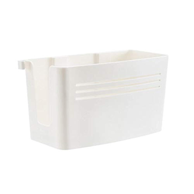 たらい集中ペインティングドライヤー 収納 ドライヤーホルダー ヘアドライヤー アクセサリー 小物 収納ボックス オーガナイザー 穴あけ不要 壁掛け 取り外し可能 取り付け簡単 (ホワイト)