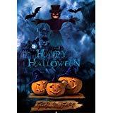 laeaccoビニールシンバックドロップ5x 7ft写真背景Happy Halloween haunted house ghost pumpkinテーマKid Party背景1.5( W ) x2.2( H ) Mビデオ写真Studio小道具の背景に