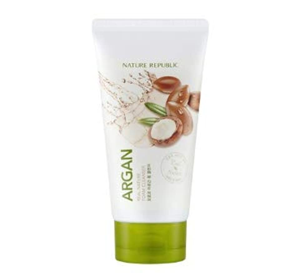 商業のモバイル唯物論NATURE REPUBLIC Real Nature Argan Foam Cleanser 150ml [並行輸入品]