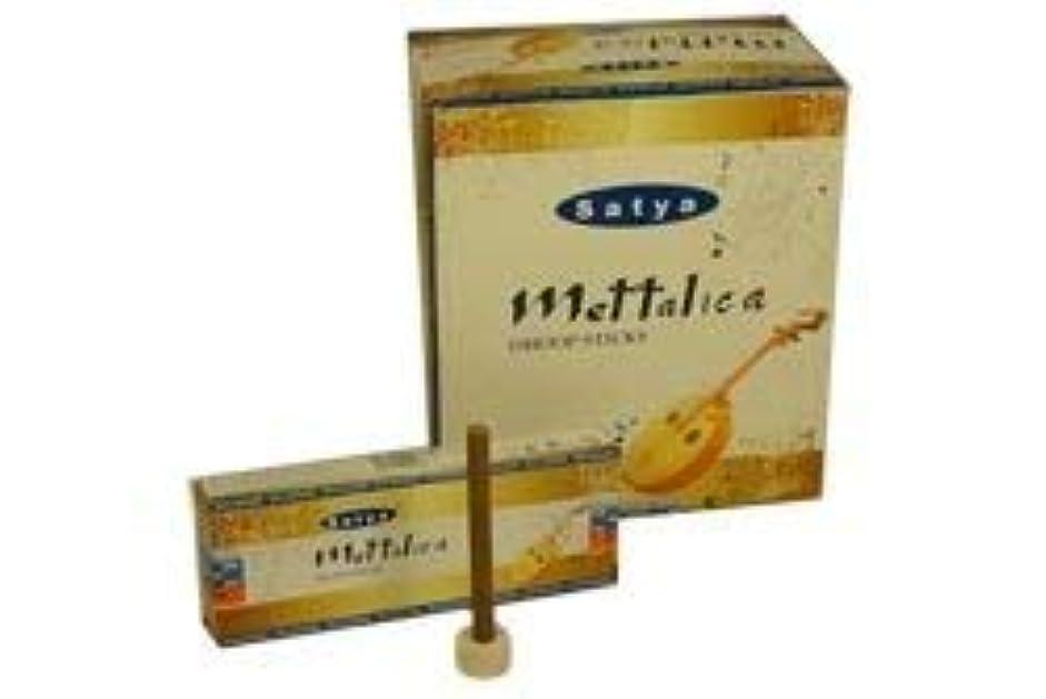 豊富に好奇心盛ペンSatya Mettalica Dhoop Incense Sticks 120 Count