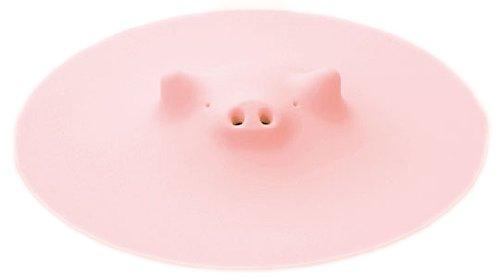 マーナ ZOOSブタの落としぶた ピンク 17.5cm