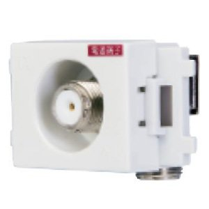 日本アンテナ 小型壁面端子 電源挿入型入力-TV間電通タイプ...