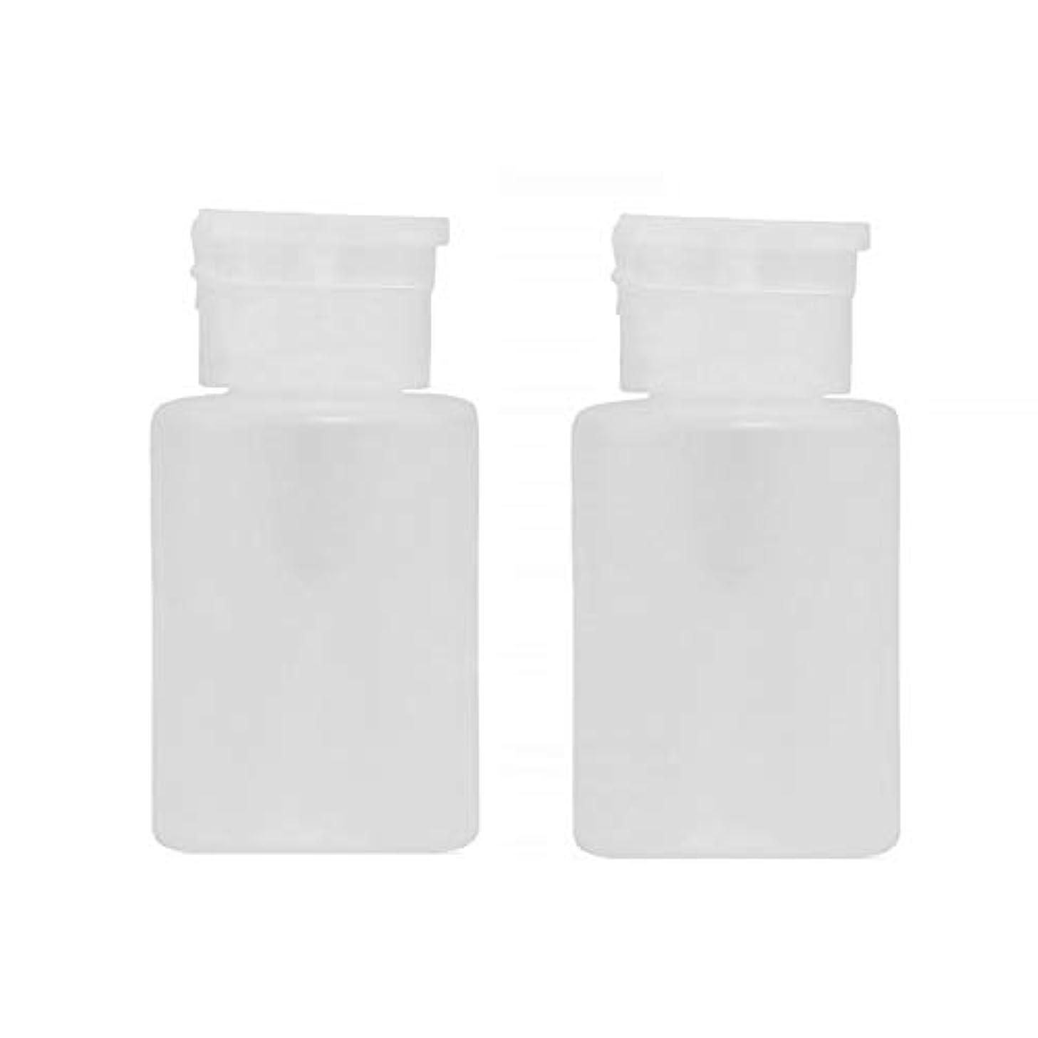 明るくする徹底間120ミリリットルプロネイル吐出ポンプボトル、空のプラスチックボトルクリア化粧ケースホワイト2