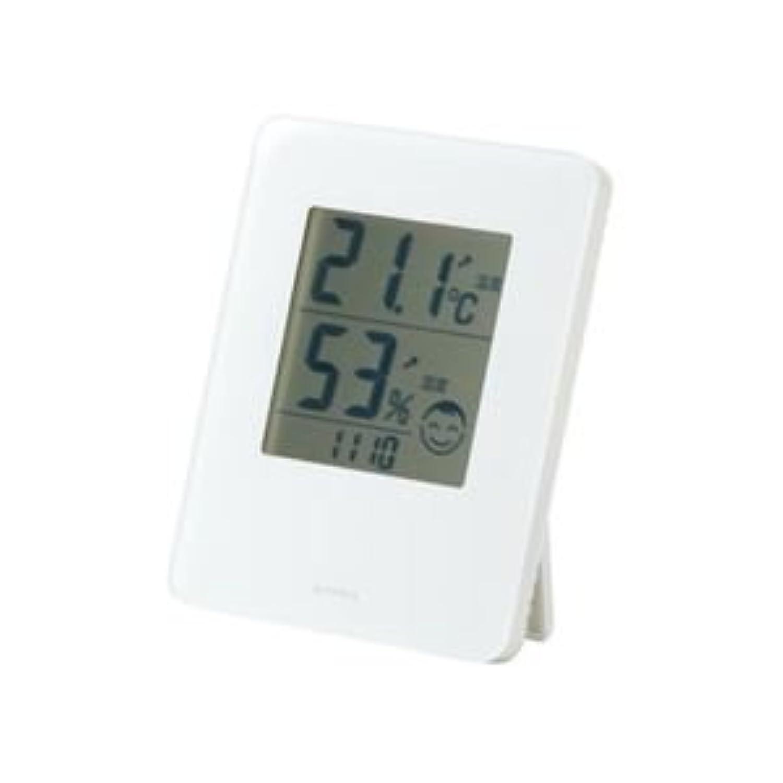 (まとめ) EMPEX デジタル快適系 温湿度計 熱中症?風邪注意目安付 室内用 置掛兼用 TD-82