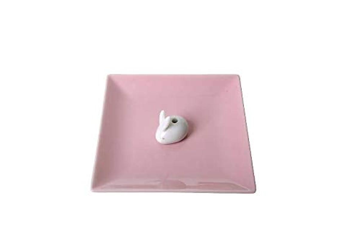 批評膨張する浮く香皿 陶器 【香皿&ウサギ香立 セット 線香立て】 稲葉仏壇店オリジナル線香セット 付き
