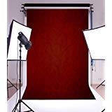 laeaccoソリッドカラービニール写真バックドロップ5x 7ft PlainテーマPurplish Red Backdropダークレッド背景写真スタジオ小道具カスタマイズ