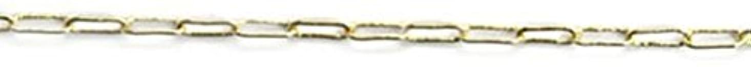マラドロイト絶妙トチの実の木プリティーネイル ネイルアートパーツ クリップチェーンSS ゴールド 1m 1個