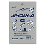 HEIKO ポリ袋 ボードンパック 4つ穴ありタイプ 厚み0.02mm No.8 100枚