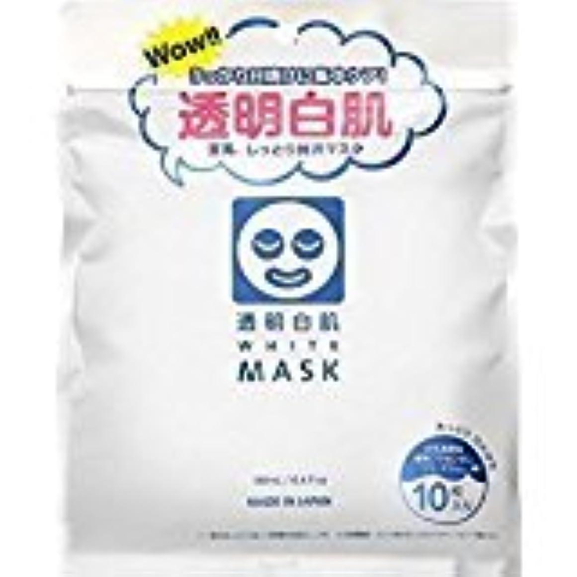 落ち着いた耐久バケット石澤研究所]透明白肌 ホワイトマスク N10枚入 (48枚セット)